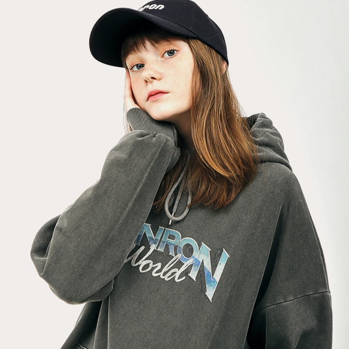 PIGMENT LOGO HOODIE CHARCOAL (PVC백 증정)